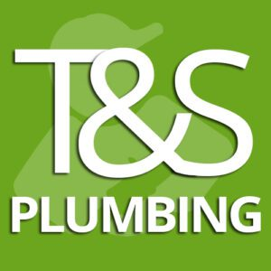 The T & S Plumbing logo created by Workshed